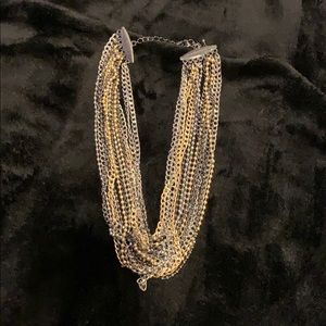 Lia Sophia multi strand choker necklace